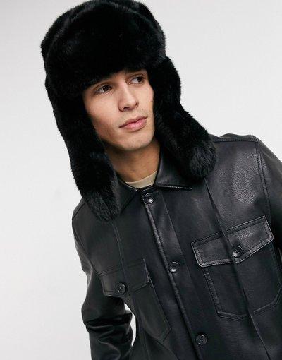 Cappello Nero uomo Cappello stile colbacco in pelliccia sintetica nero - Kangol