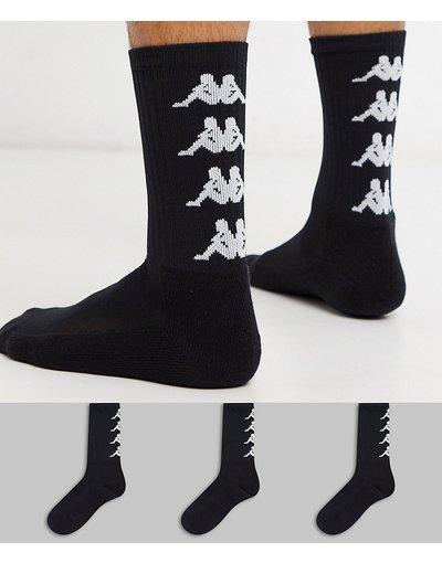 Calze Nero uomo Confezione da 3 paia di calzini con logo neri - Kappa Authentic - Amal - Nero