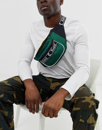 Borsa Verde uomo Marsupio verde con cinturino con logo - Karl Kani - Retro