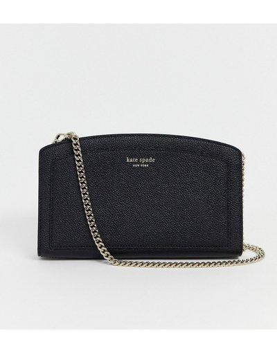 Borsa Nero donna Camera bag con tracolla in pelle nera - Kate Spade - Margaux - Nero