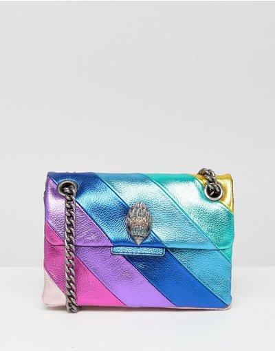 Borsa Multicolore donna Borsetta arcobaleno in pelle - Kurt Geiger London - Kensington - Multicolore