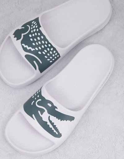 Novita Bianco uomo Sliders bianche - Croco 2.0 - Lacoste - Bianco