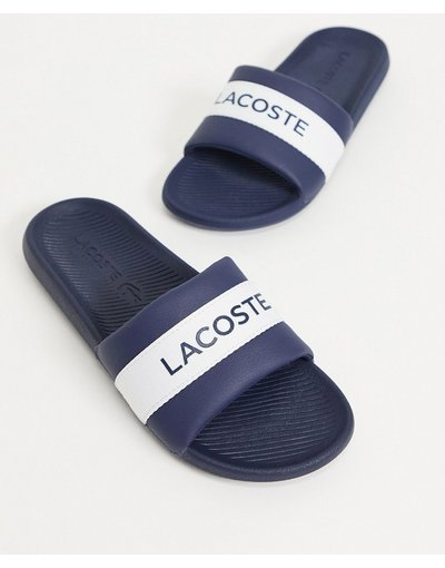 Novita Blu navy uomo Sliders blu navy con logo a coccodrillo - Lacoste