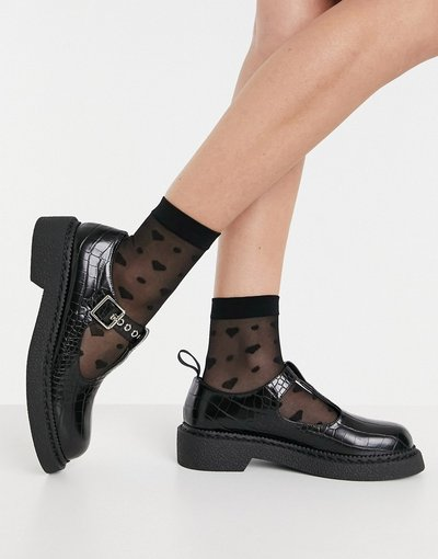 Scarpa bassa Nero donna Scarpe basse nero coccodrillo - Mary Jane - Lamoda