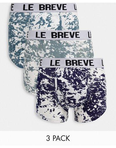Intimo Blu uomo Confezione da tre paia di boxer aderenti tie - Le Breve - dye - Blu