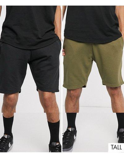 Felpa Nero uomo Confezione da 2 pantaloncini della tuta - Le Breve Tall - Nero