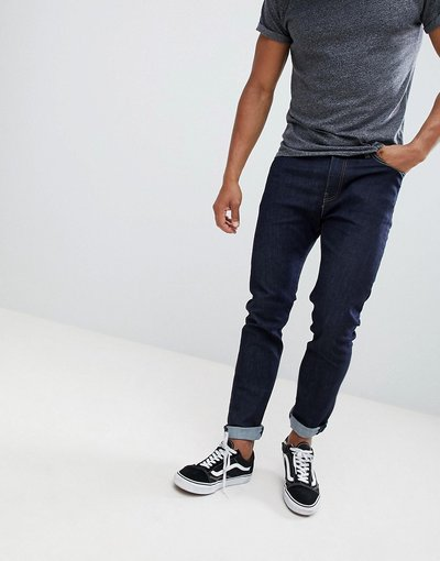 Jeans Blu uomo Jeans vita normale skinny lavaggio indaco Cleaner - Levi's - 510 - Blu