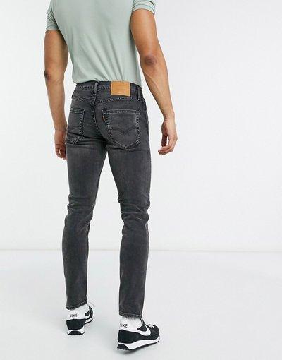 Jeans Nero uomo Jeans slim affusolati nero slavato caldo - Levi's - 512