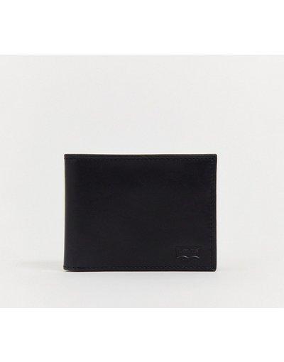 Portafoglio Nero uomo Portafoglio a libro nero con logo batwing -  Classic - Levi's