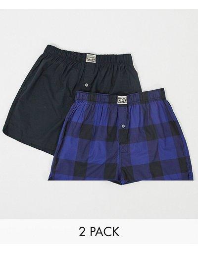 Intimo Blu navy uomo Confezione premium da 2 boxer uomo blu a quadri - Blu navy - Levi's