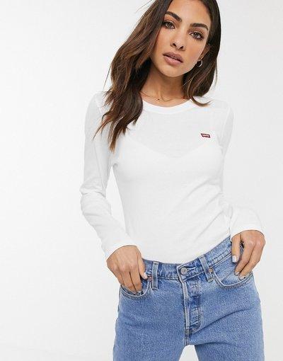 T-shirt Bianco donna shirt a maniche lunghe - Levi's - Bianco - T