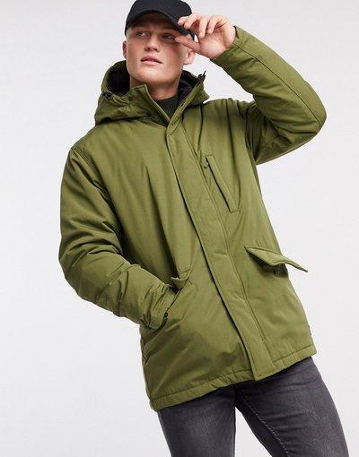 Verde uomo Parka multitasche con cappuccio verde oliva scuro - Woodside - Levi's