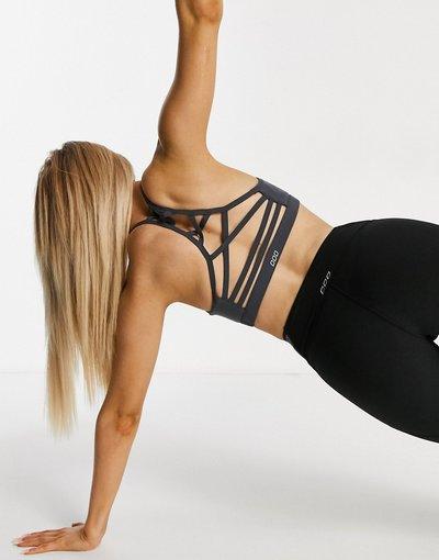 Grigio donna Reggiseno sportivo con retro effetto smagliato di colore grigio - Lorna Jane