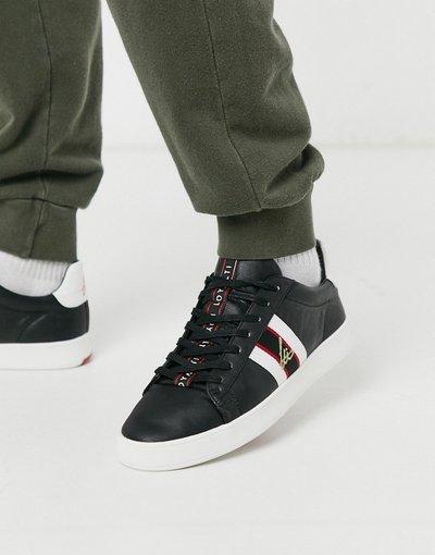 Stivali Nero uomo Sneakers nere con righe laterali - Loyalti - Nero