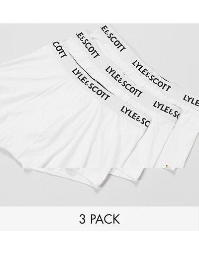 Intimo Bianco uomo Confezione da 3 paia di boxer aderenti bianchi - Lyle&Scott - Bodywear - Bianco