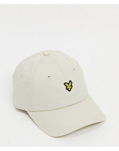 Cappello Grigio pietra uomo Cappellino color pietra con logo - Lyle&Scott - Grigio pietra