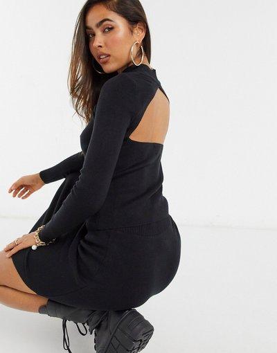 Nero donna Maglione nero in coordinato ASOS DESIGN con apertura sulla schiena