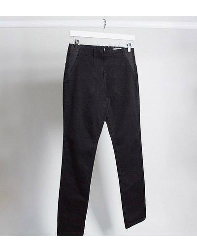 Maternita Nero donna Jeans post parto a vita alta neri con zip sul retro - Mamalicious - Nero