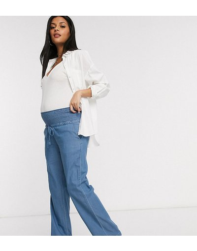 Maternita Blu donna Jeans premaman ampi blu - Mamalicious