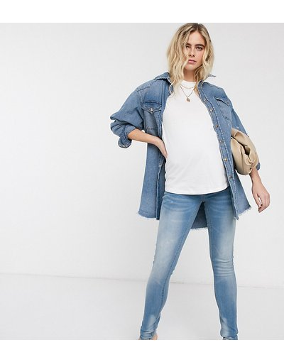 Maternita Grigio donna Mamalicious - Jeans slim - Grigio