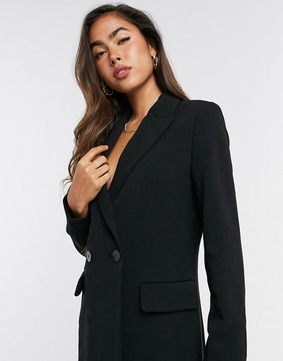 Nero donna Cappotto dritto nero - Mango