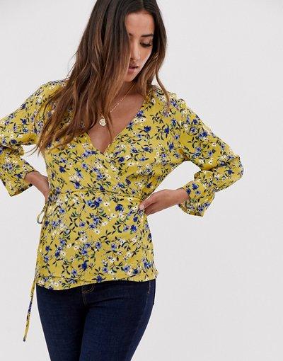 Camicia Multicolore donna Blusa a portafoglio a fiori - Multicolore - mByM