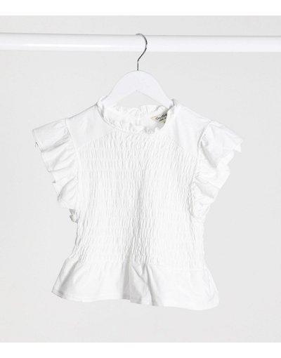 T-shirt Bianco donna Miss Selfridge - shirt bianca - Graziosa T - Bianco