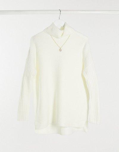Crema donna Maglione lungo color crema - Miss Selfridge