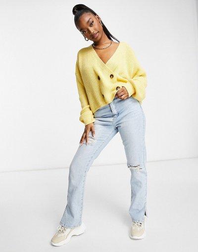 Giallo donna Cardigan doppiopetto giallo - Missguided