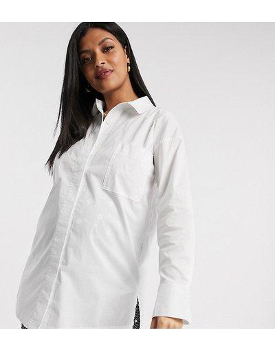 Maternita Bianco donna Camicia in popeline con polsini ampi bianca - Missguided Maternity - Bianco