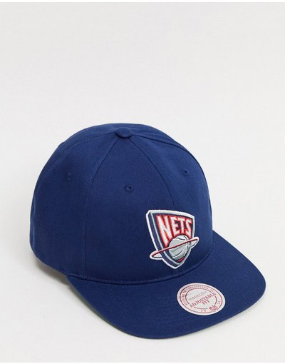 Cappello Blu uomo Cappellino snapback blu - NBA New Jersey Nets - Mitchell&Ness