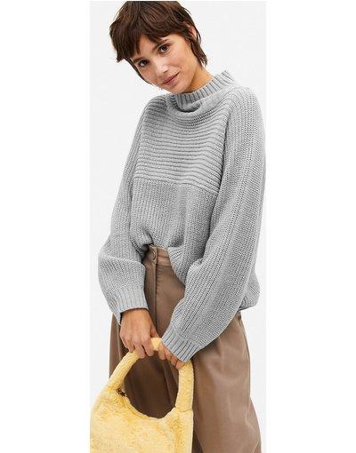 Grigio donna Maglione lavorato grigio chiaro - Libby - Monki