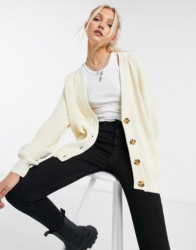 Beige donna Cardigan oversize color crema - Maria - Monki - Beige