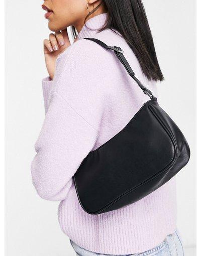 Portafoglio Nero donna Borsa da spalla in pelle sintetica nera - Odessa - Monki - Nero