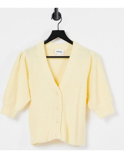 Giallo donna Cardigan giallo a maniche corte - Puffy - Monki