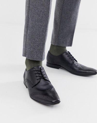 Scarpa elegante Nero uomo Scarpe nere stringate - Moss London - Nero