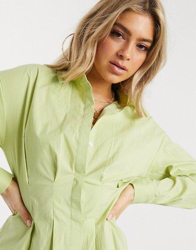 Camicia Verde donna Camicia con vita raccolta verde lime - KD - NA