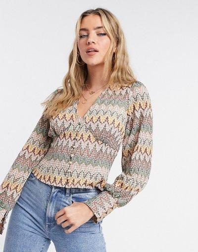 Multicolore donna Cardigan in maglia con motivi all'uncinetto a contrasto multicolore - Never Fully Dressed