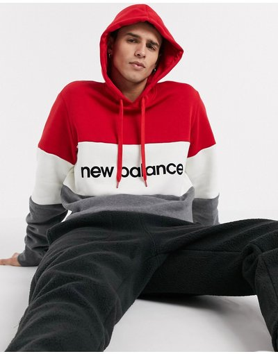 Felpa Rosso uomo Felpa con cappuccio rossa - New Balance Athletics - Rosso