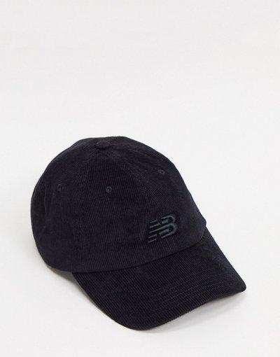 Cappello Nero uomo Cappello con visiera nero a coste - New Balance