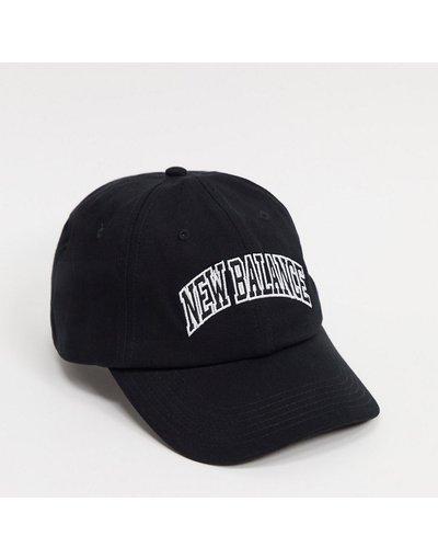 Cappello Nero uomo Cappello con visiera nero stile college - New Balance