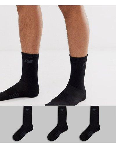 Calze Bianco uomo Confezione da 3 paia di calzini neri - New Balance - Bianco