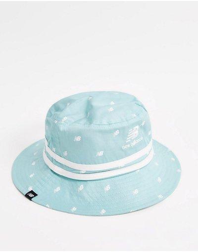 Cappello Blu uomo Cappello da pescatore con logo stampato - New Balance - Drizzle - Blu