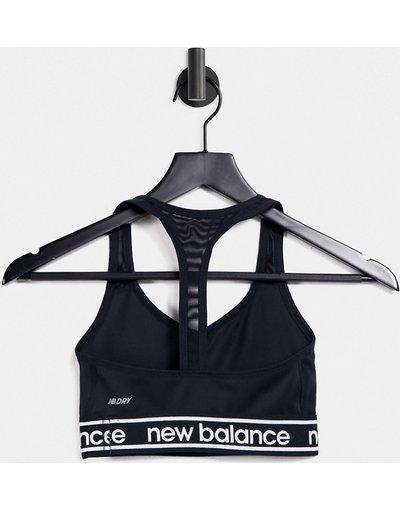 Nero donna Reggiseno da corsa nero - New Balance - Pace 2.0