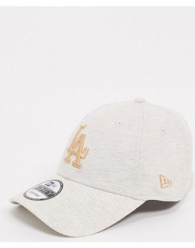 Cappello Grigio uomo Berretto in jersey LA Dodgers color pietra - New Era - 9forty - Grigio
