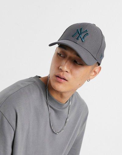 Cappello Grigio uomo Cappellino regolabile in Diamond Era grigio - MLB 9forty NY - New Era
