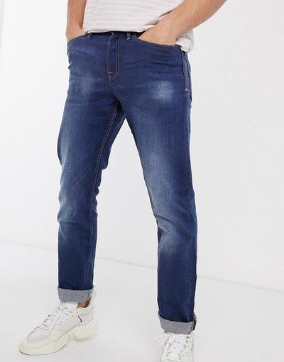 Jeans Blu uomo Jeans dritti blu acceso - New Look
