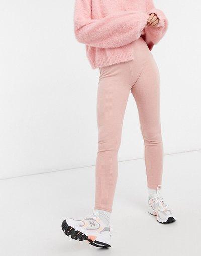 Pigiami Rosa donna Leggings da casa a coste rosa - New Look