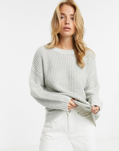 Grigio donna Maglione lungo grigio - New Look