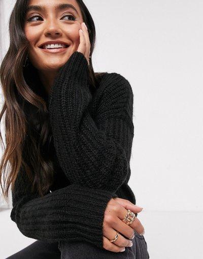 Nero donna Maglione lungo nero - New Look